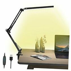 LED Desk Lamp Swing Arm Desk Lamps with Clamp Eye Care Architect Desk $38.26