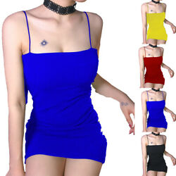 Lady Strappy Sleeveless Bodycon Mini Dress Summer Casual Party Dresses Clubwear $16.79