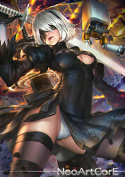2B Fanart poster anime poster fantasy poster Wall Art picture art #3 $18.55