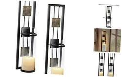 Wall Sconce Candle Holder Metal Wall Decorations for Living Room Bathroom $40.74