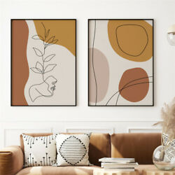 2Pcs Art Decor Abstract Woman Canvas Oil Painting Print Picture Home Wall Hang $9.99