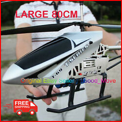 3.5ch 80cm Super Large Helicopter Chopper With Remote Control Aircraft Anti Fall $67.99