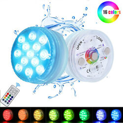Submersible Swimming 13 LED Pool Lights Magnetic Underwater with Remote Control $17.09