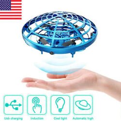 UFO Mini Drone Hand Operated Levitation LED RC Helicopter Flying Toys Kids Gift $11.99