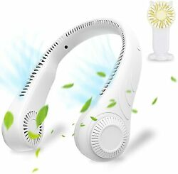 Portable Neck Fan Leafless Cooling Rechargeable USB Personal Air Conditioner Fan $21.99