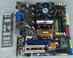 Asus Motherboard M3S7B EM with RAMs AMD processor and shield C $100.00