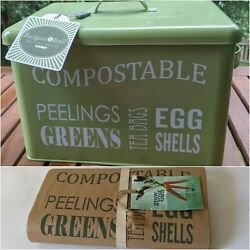 Burgon amp; Ball Kitchen Compost Bin and bags in gooseberry green $36.59