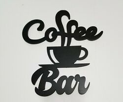 Rustic Country Kitchen Farmhouse décor Coffee Bar retro wood wall Cut out Sign $9.95