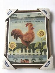 Rooster Rustic Wall Artquot; Kitchen is the Heart of the Homequot; Plaque Wall Sign $4.95