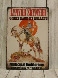 Lynyrd Skynyrd Live in Concert Tin Poster Sign Rustic Vintage Style Bar Man Cave $9.72