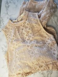 pink lace dresses for women size L $18.00