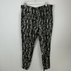 French Laundry Women#x27;s Pull On Lace Pants Black Size 3X $21.99