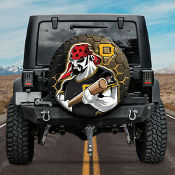 Mascot Pittsburgh Pirates For Baseball MLB Fans DTH01 Spare Tire Cover $69.99