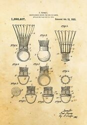 9681.Decoration Poster.Home vintage Room wall art.Patent antique Badminton ball $75.00