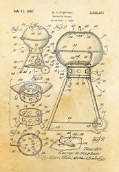 9684.Decoration Poster.Home vintage Room wall art.Patent portable BBQ.Barbecue $32.00
