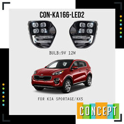 For 2017 2018 Kia Sportage LED with DRL Linings Fog Lights with Assembly Set $190.86