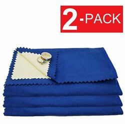 2 Pack Jewelry Cleaning Polishing Cloth Instant Shine Protects Gold Silver Brass $5.09