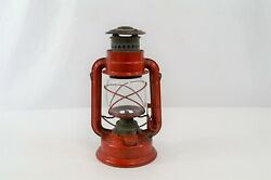 Chalwyn Tropic Lantern Red with Clear Globe England Paraffin Oil Lamp 10quot; Vtg $39.99