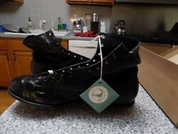 Vintage 1940s Spalding Leather Football Shoes High Top NOS Sz 8.5 $199.99