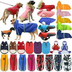 Waterproof Pet Dogs Clothes Winter Padded Coat Reflective Vest Jacket Apparel US $12.72