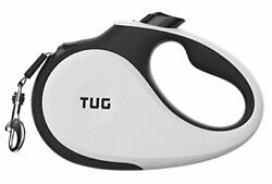 360° Tangle Free Heavy Duty Retractable Dog Leash with Anti Slip Large White $33.62