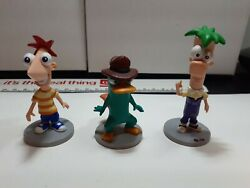 Phineas and Ferb PVC Figures Lot loose 3 Pieces $15.00