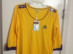 ECU EAST CAROLINA PIRATES WOMEN TOP. BRAND NEW WITH TAG SIZE: SMALL $11.99