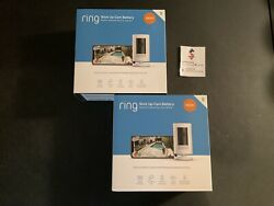 Ring Stick Up Cam Battery Powered Indoor Outdoor Camera 2 camera Bundle NEW $164.95
