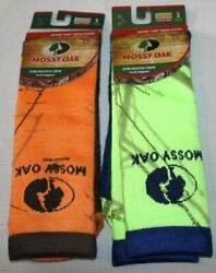 NEW 2 pairs MENS sz. Large SOCKS Mossy Oak crew arch support Camouflage $9.97