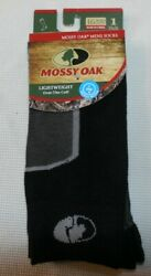 NEW 1 pair MENS size Large SOCKS Mossy Oak over the calf arch support $3.89