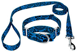 Country Brook Petz® Blue Polynesian Martingale Dog Collar and Leash $17.95