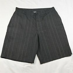 C9 by Champion 36 x 10quot; Black Check Tech Wicking Flat Front Golf Chino Shorts $10.99