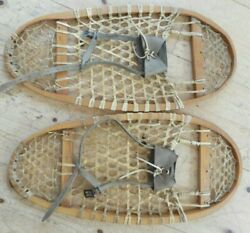 VINTAGE BEAR PAW LEATHER SNOWSHOES 28 INCHES $199.00