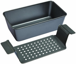 Meatloaf Pan 2 Piece Healthy Meatloaf Set Drain Fat Kitchen Baking Cookware NEW $20.01