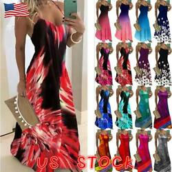 Women Boho Floral Strappy Dress Long Maxi Plus Size Cami Sundress Party Holiday $16.33