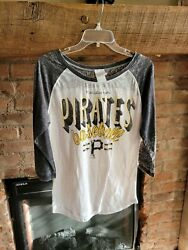 5th amp; Ocean Pittsburgh Pirates Women#x27;s 3 4 Sleeve Shirt Size M A12 $7.99