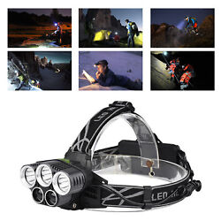 USB Rechargeable 6 Modes Headlamp for Fishing Hiking Kids Climbing Outdoor $14.60