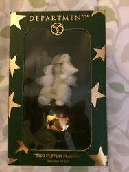 """Dept 56 Snowbabies 12 Days of Christmas """"Two Puffins Playing"""" Ornament 2 of 12 $18.00"""