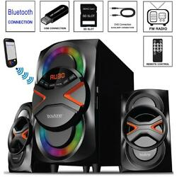 Home Theater Speaker System Stereo Surround Sound Speakers Wireless USB Audio $107.99