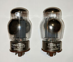 Pair 2 Matched Tung Sol 6550 Gray Plate Audio Receiver Guitar Amp Vacuum Tubes $219.00
