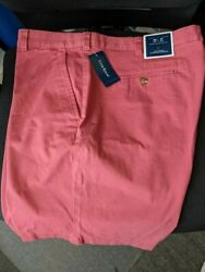 Club Room Men#x27;s Mens Short Summer Melon Khakis Flat Front New With Tags Size 38 $24.49