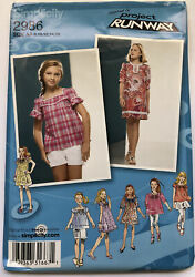 Simplicity Sewing Pattern 2986 Size AA 810121416 Girls Plus Dresses amp; Tops $5.00