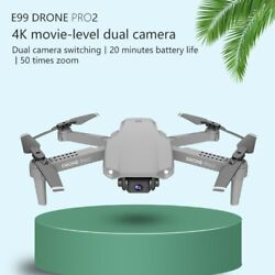 E99 Pro2 RC Small Drone Dual Camera Aerial Photography Helicopter Foldable Drone $44.25