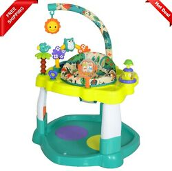 Baby Bouncer Activity Center Jumper with 360 Degree Rotating Seat Play Toy Bar $56.89