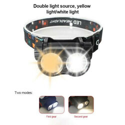 Outdoors Waterproof Flashlight Head Lights USB Rechargeable for Camping Hiking $10.51