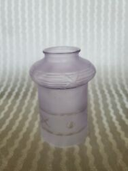 Victorian Antique Purplish Tinted Embossed etched Lamp Shade. Gorgeous.... $3.25