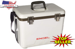 19 Quart Fishing Live Bait Dry Box Ice Cooler with Shoulder Strap White $56.99