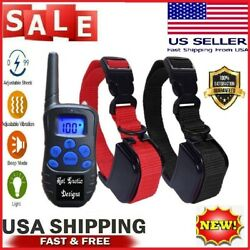 Dog Training Collar Rechargeable LCD Remote Shock Control Waterproof 330 Yards $36.99