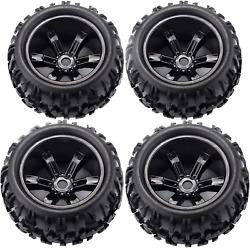 Rcstation 17Mm Hex Rc Wheels And Tires 1 8 Scale Rc Monster Truck $66.99