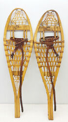 Antique Vintage 10 X 33 Kid Child TORPEDO Snowshoes Usable Decor FREE SHIPPING $79.99